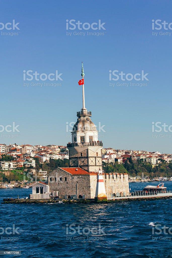 Maiden's Tower Istanbul, tourism travel destination stock photo
