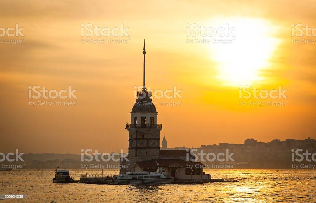 Maiden's Tower, Istanbul, Turkey stock photo