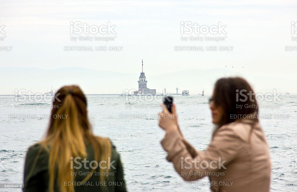 Maiden's Tower/ Kiz Kulesi stock photo