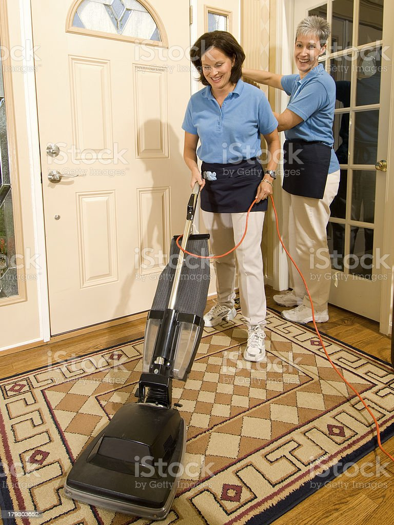Maids Cleaning Team stock photo