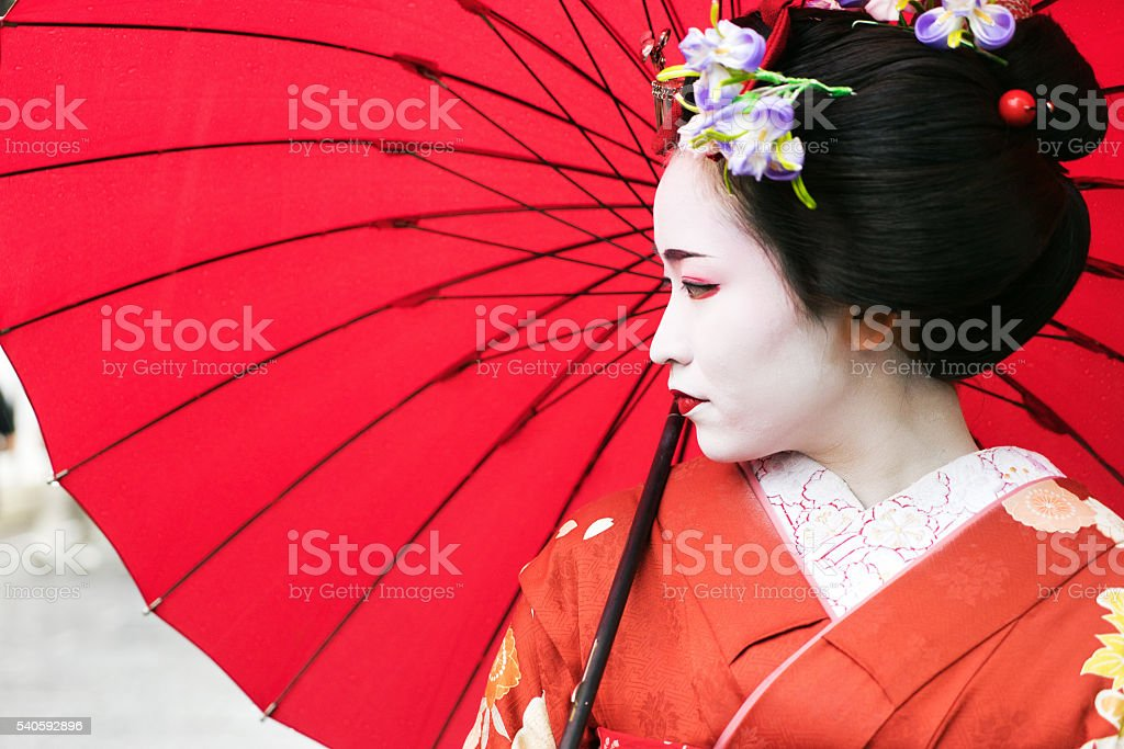 Maiko GIrl Portrait stock photo