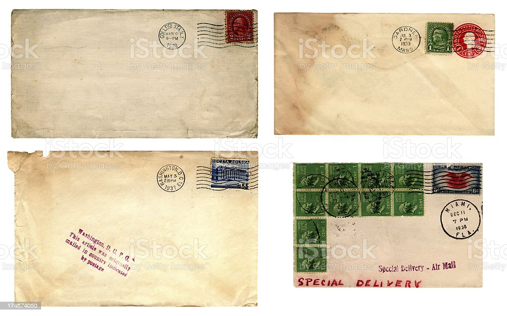 US mail 1930s royalty-free stock photo