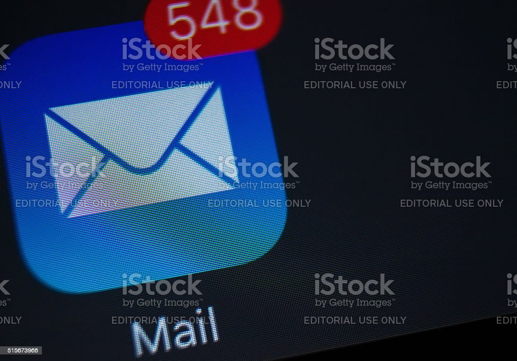 Mail app Icons stock photo