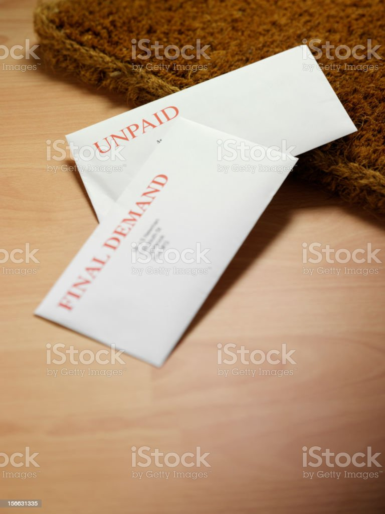 Mail at the Door royalty-free stock photo