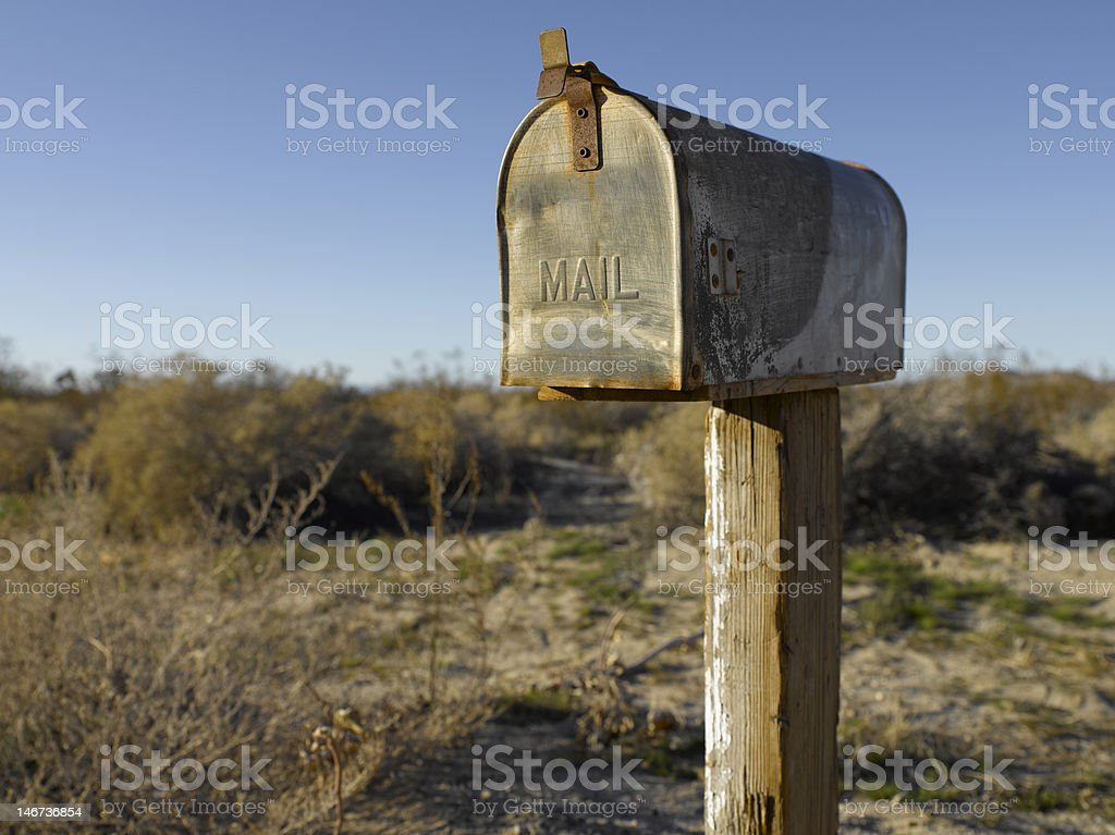 mail box a long the road royalty-free stock photo