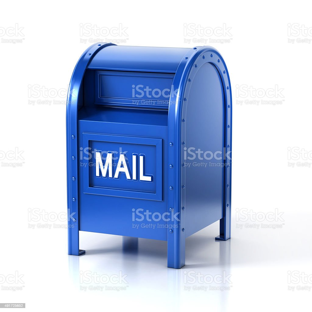mail box isolated on white background stock photo