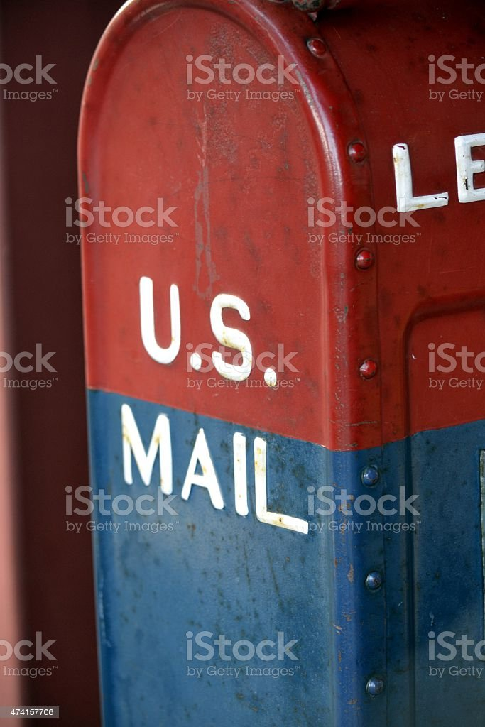 US Mail Box stock photo