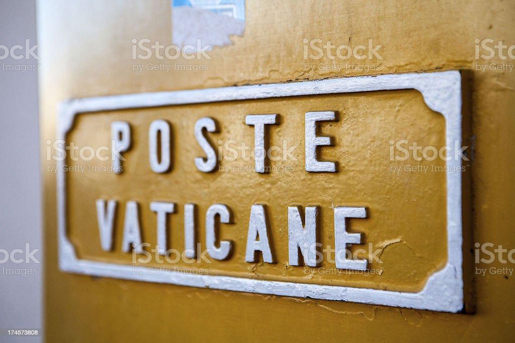 Mail Box - Vatican City royalty-free stock photo