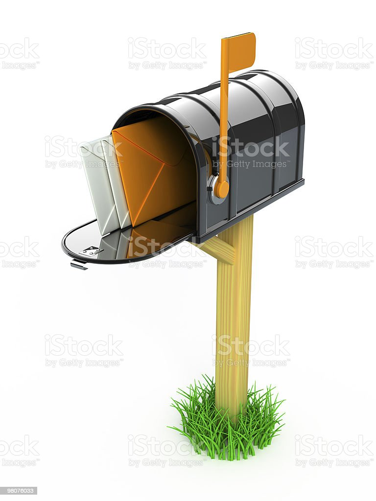 Mail box with letters royalty-free stock photo