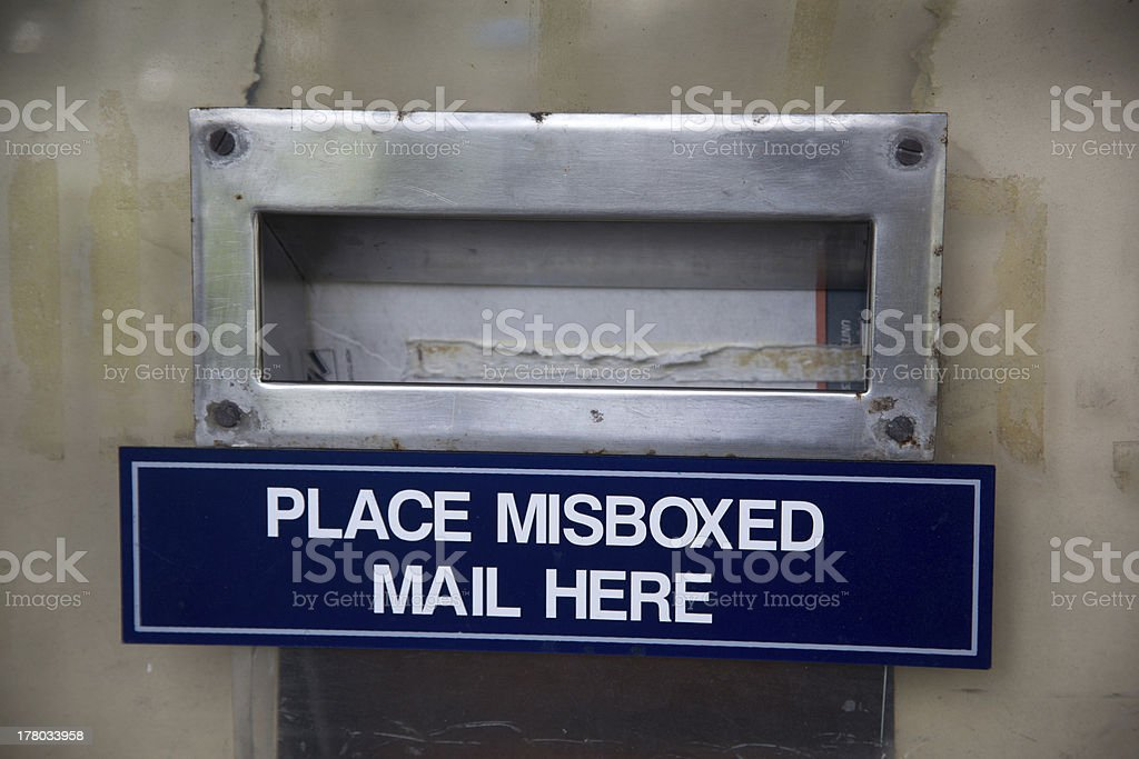 mail boxes of oahu hawaii royalty-free stock photo