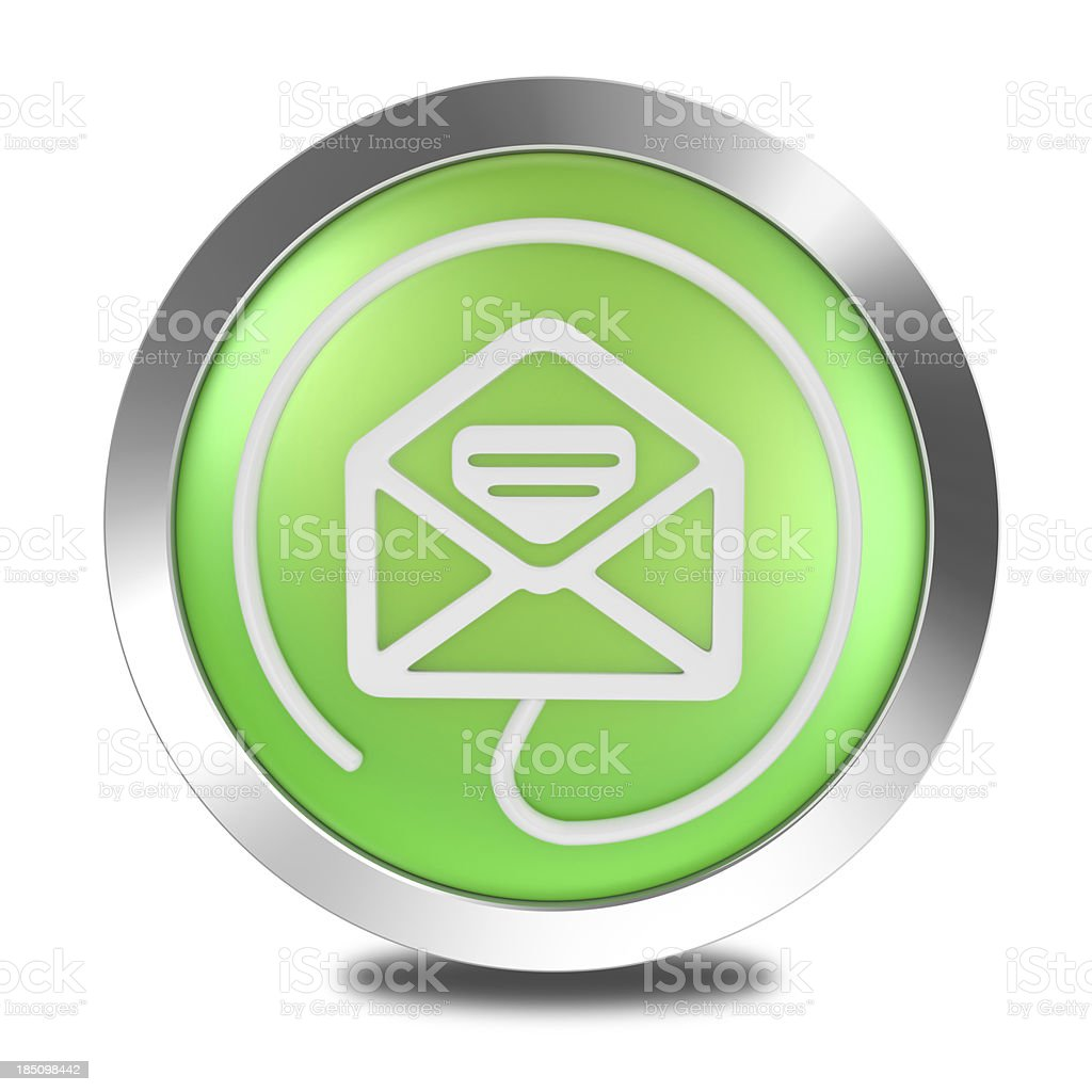 Mail button icon stock photo