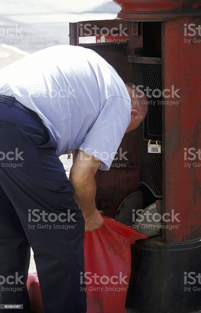 Mail Carrier royalty-free stock photo