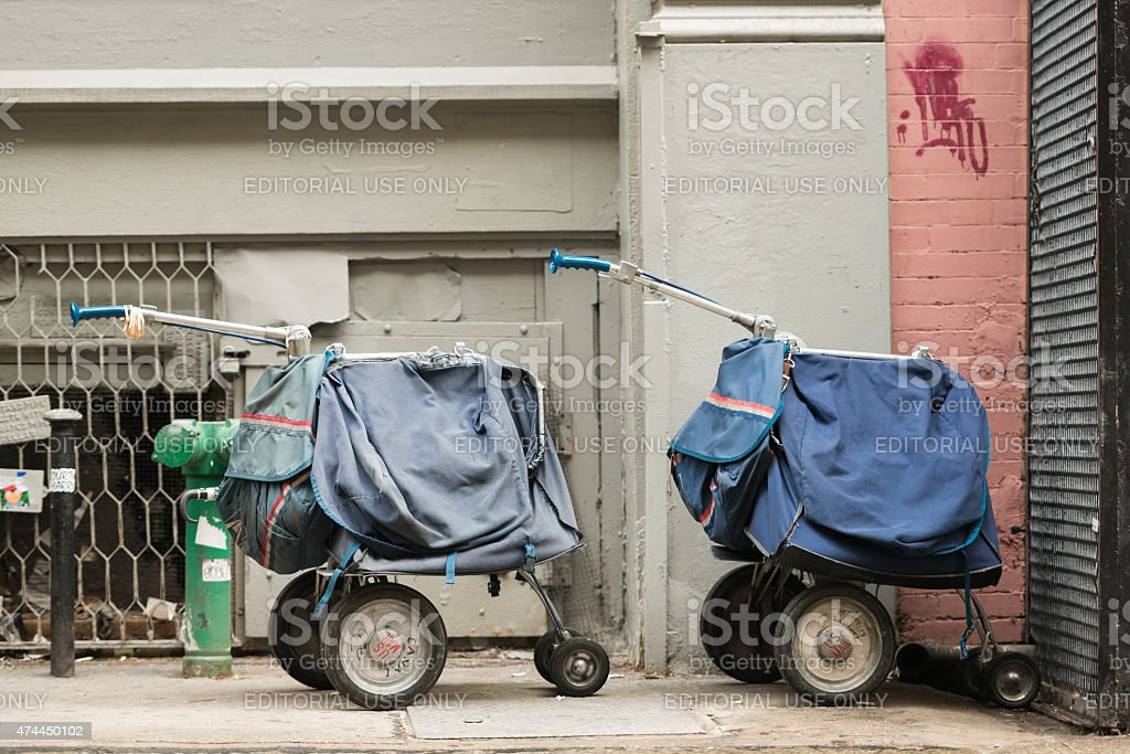 Mail Carts stock photo