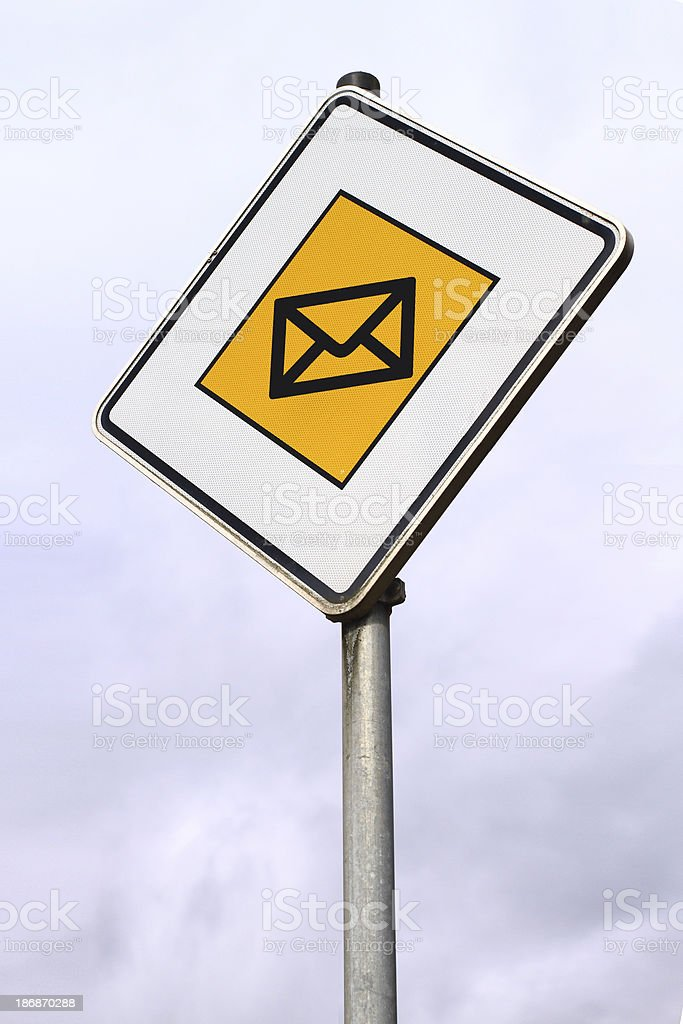 Mail center royalty-free stock photo