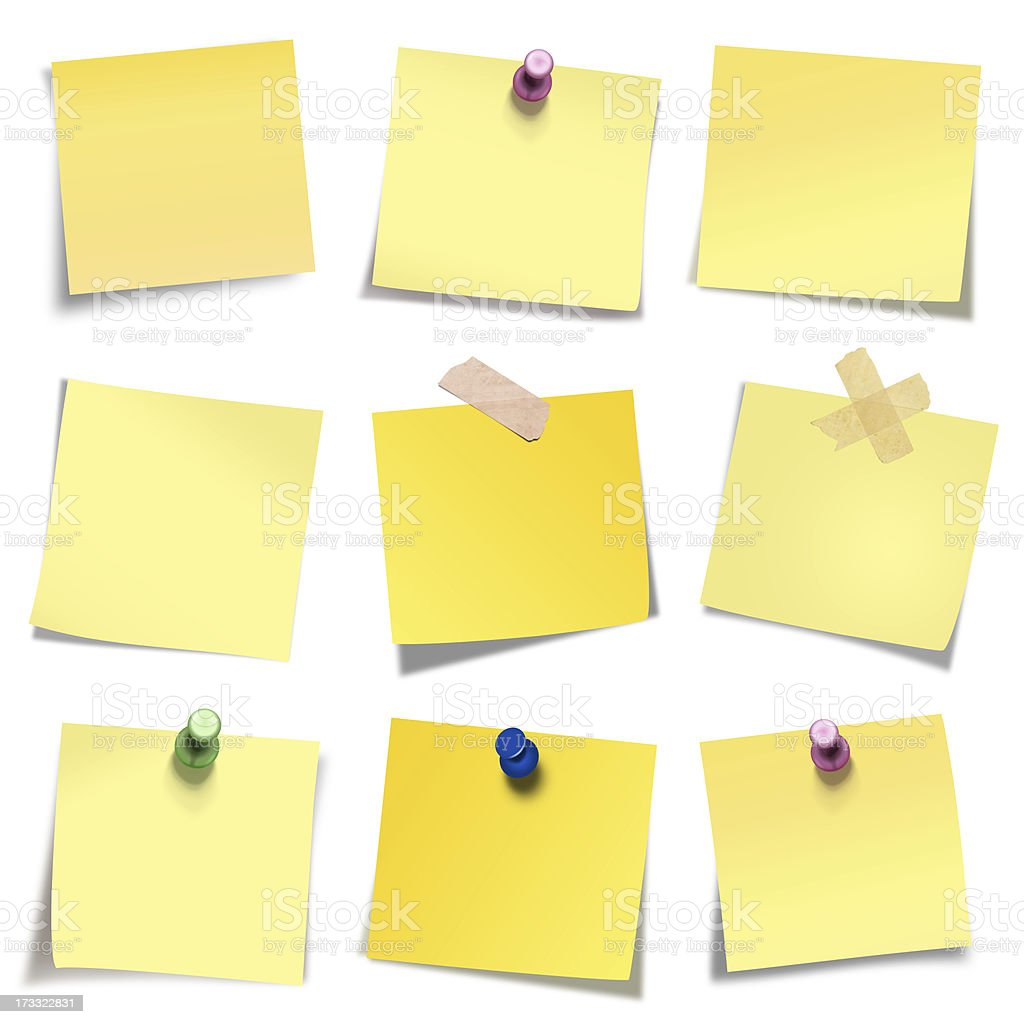 Postit Collection royalty-free stock photo
