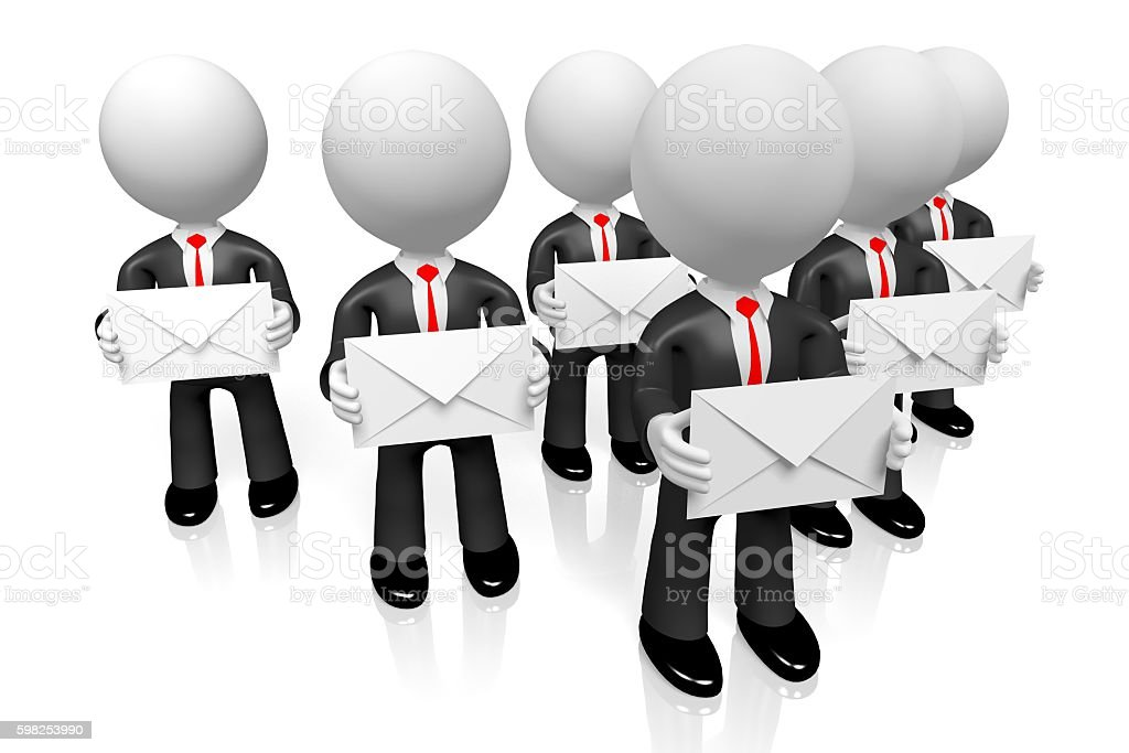 3D mail concept stock photo