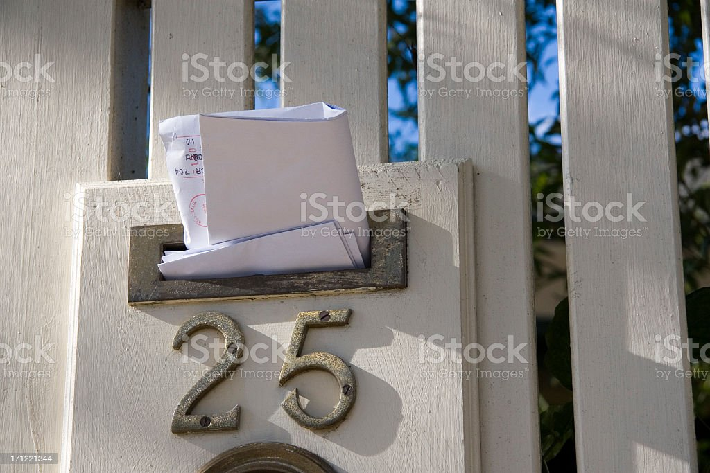 Mail delivered royalty-free stock photo