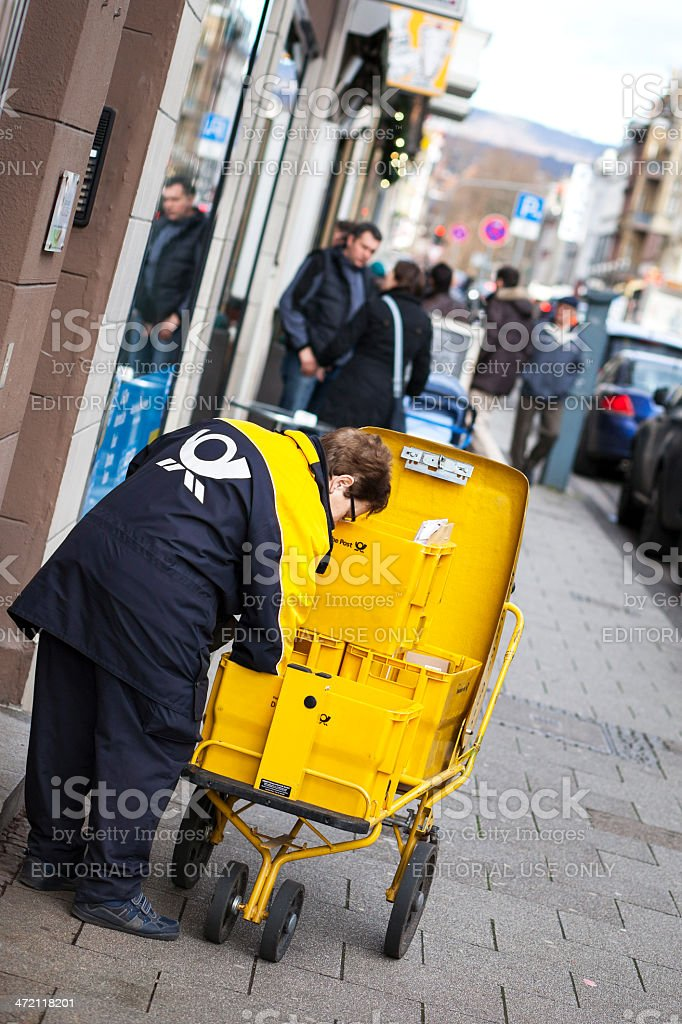 Mail delivery royalty-free stock photo