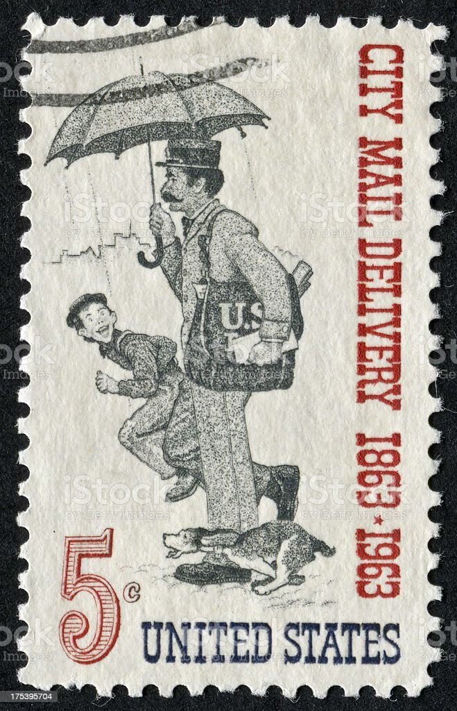 Mail Delivery Stamp royalty-free stock photo