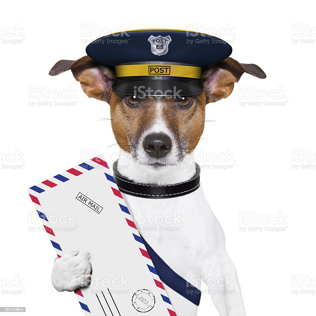 mail dog royalty-free stock photo