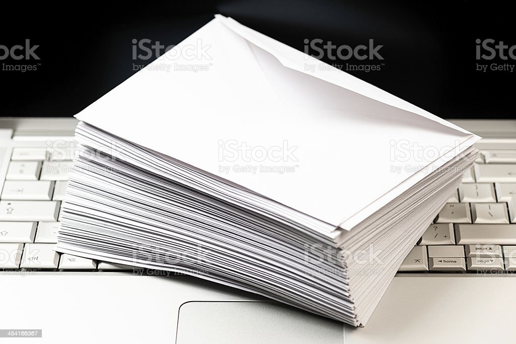 Mail Envelope on Laptop royalty-free stock photo