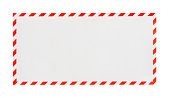 Mail envelope on white background