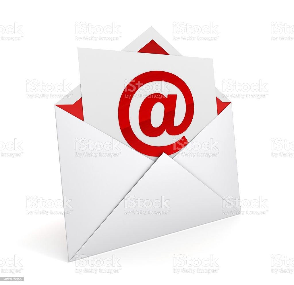 E mail envelope royalty-free stock photo