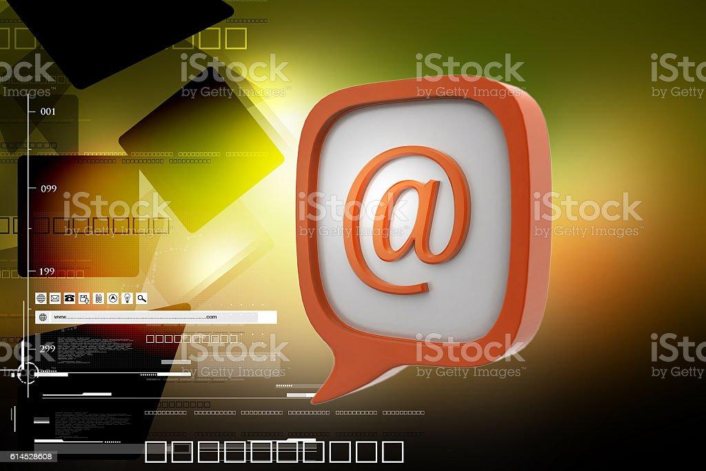 E mail icon in speech bubble stock photo