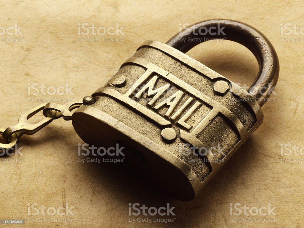 Mail Lock royalty-free stock photo