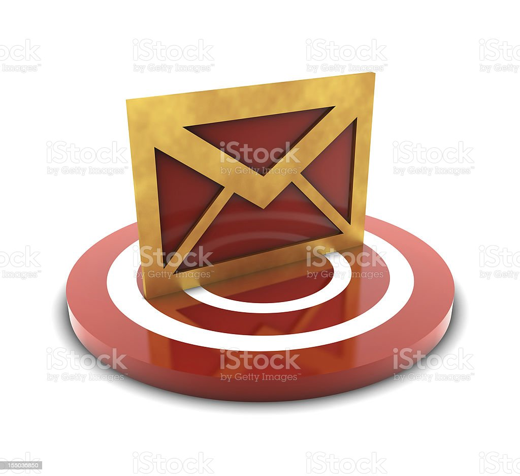 Mail on Target royalty-free stock vector art