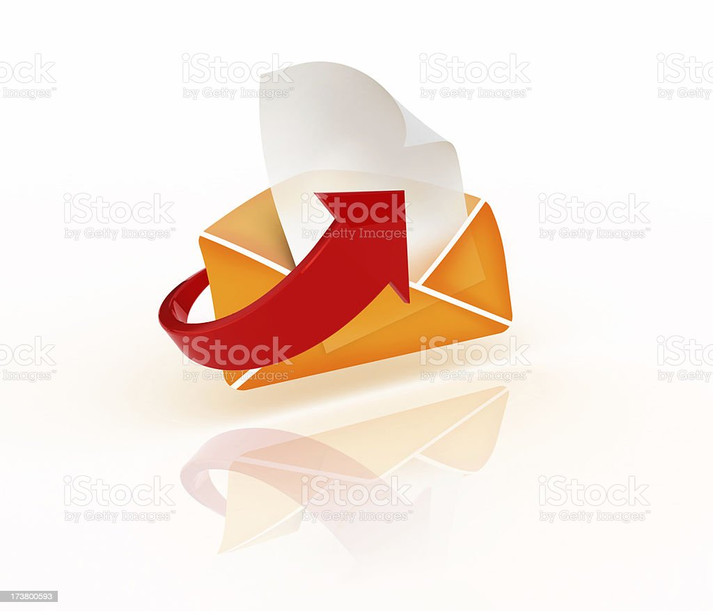 mail on the way stock photo