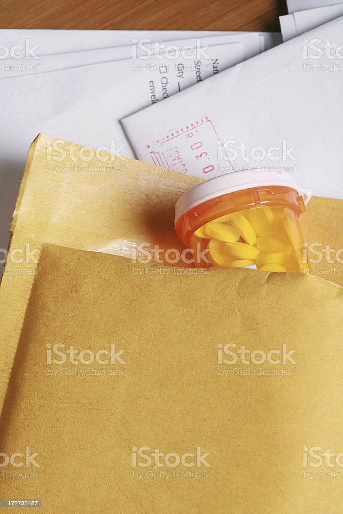 Mail Order Prescription royalty-free stock photo