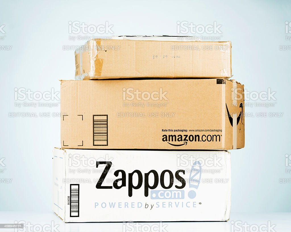 Mail Order Shipping Boxes stock photo