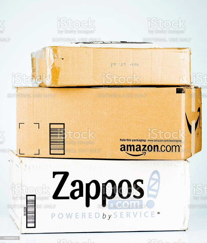 Mail Order Shipping Boxes royalty-free stock photo