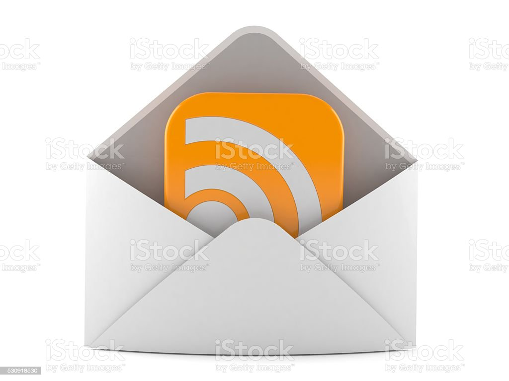 RSS mail stock photo