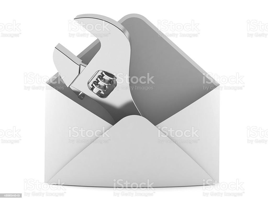 Mail repair royalty-free stock photo