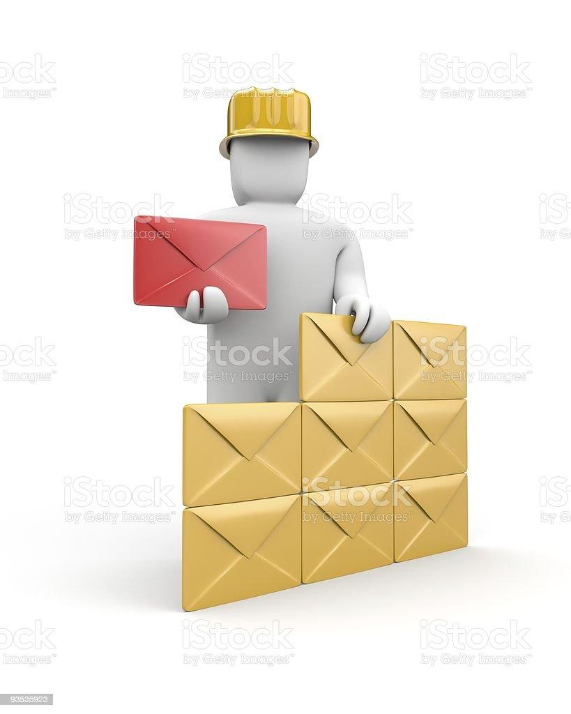 Mail service stock photo