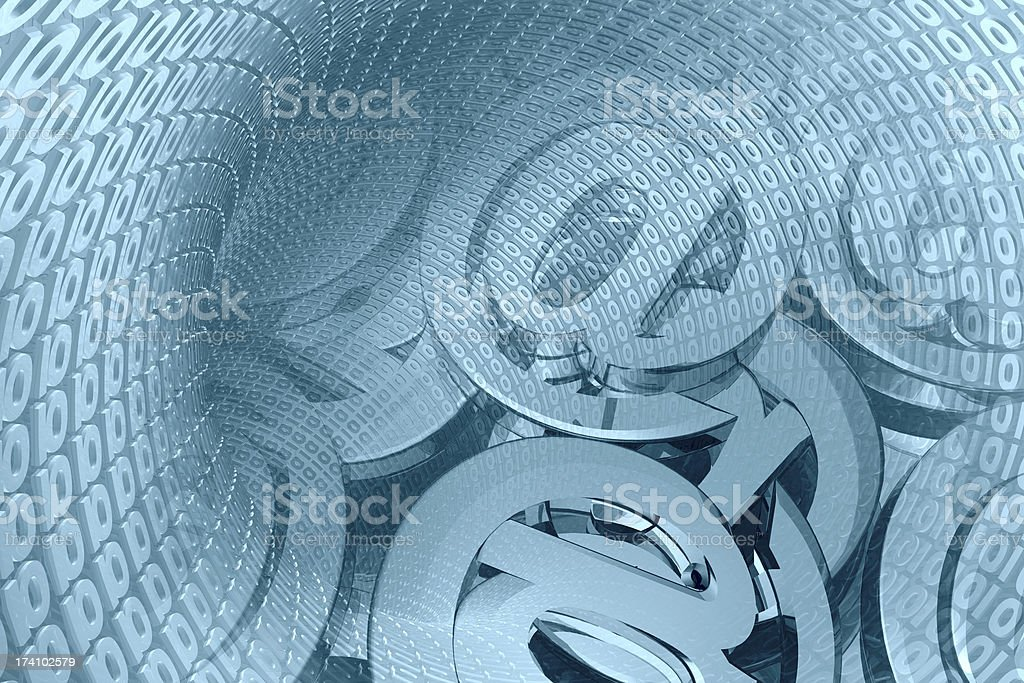 Mail signs and digits royalty-free stock photo