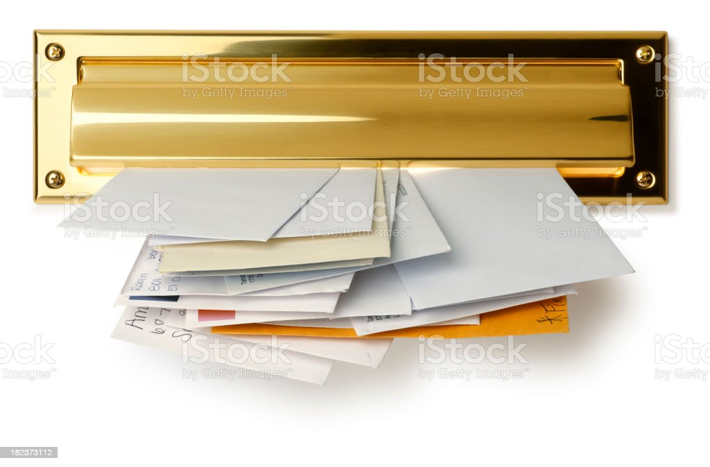 Mail Slot stock photo
