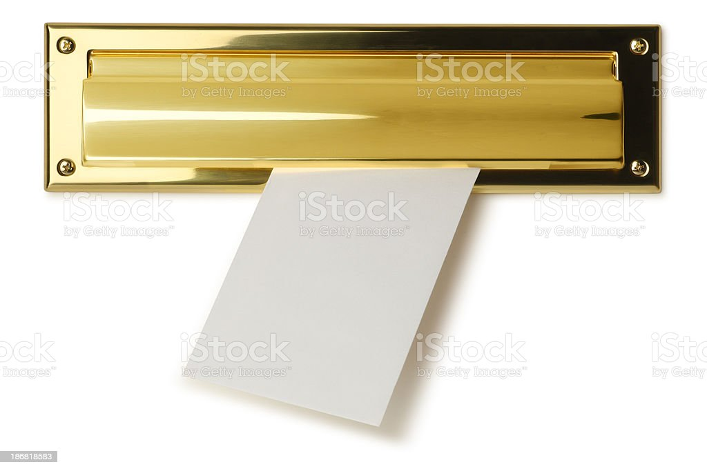 Mail Slot stock photo
