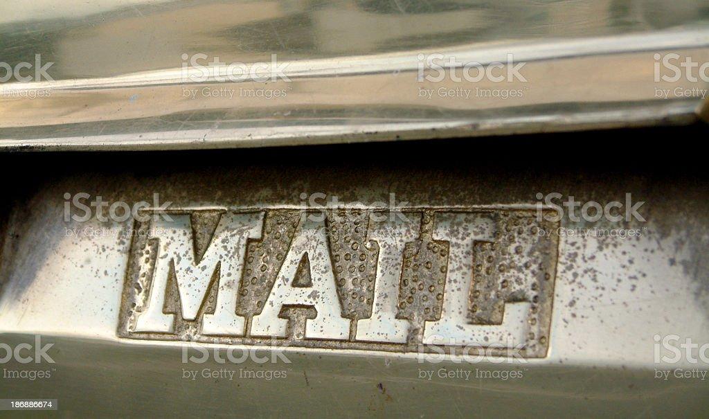 mail slot royalty-free stock photo