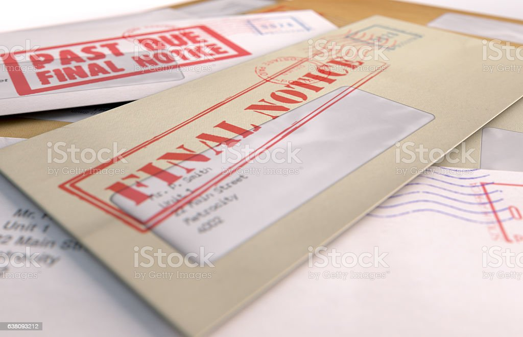 Mail Stack stock photo