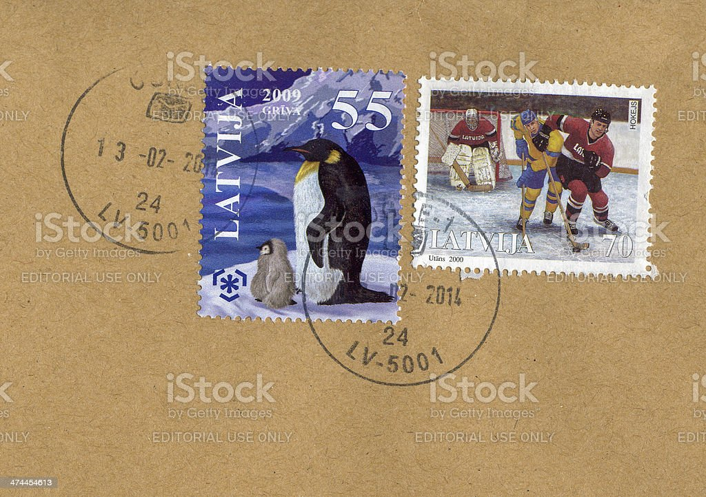 Mail stamp royalty-free stock photo