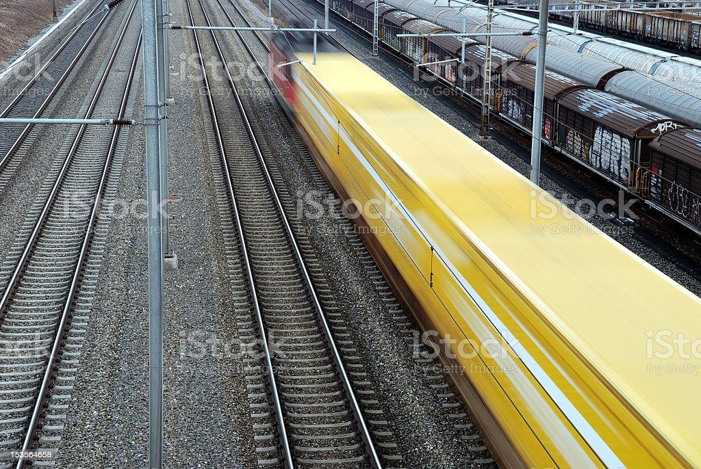 Mail train royalty-free stock photo