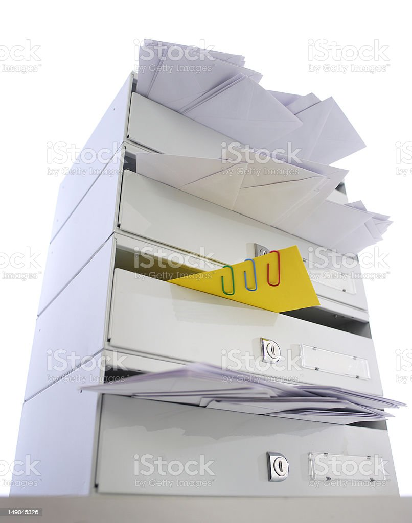 Mail with attachement stock photo