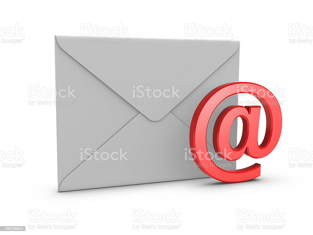 Mail with @ symbol stock photo