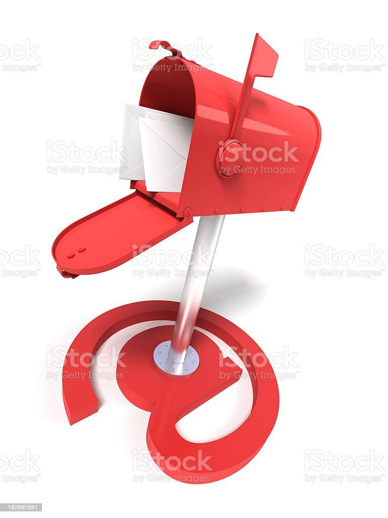 Mailbox and e-mail symbol royalty-free stock photo