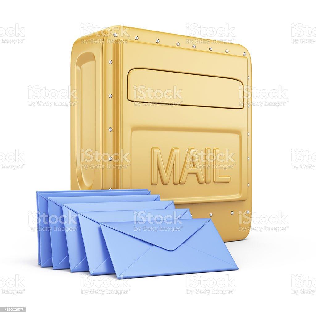 Mailbox and envelopes royalty-free stock photo