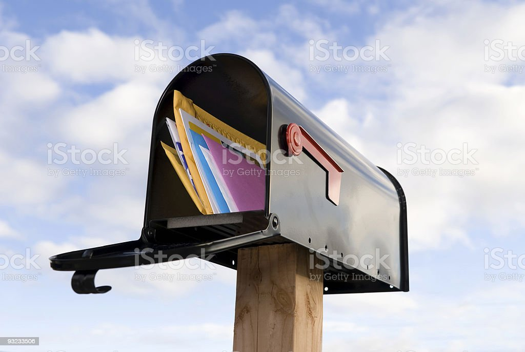Mailbox and mail stock photo