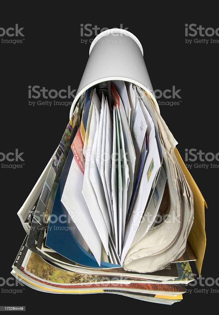 Mailbox and Mail—front stock photo